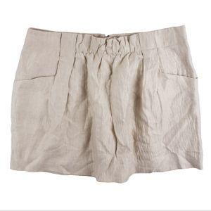 New JCREW Beige Linen Charter Skirt